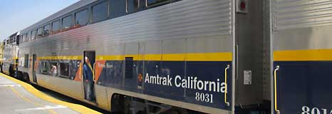 Amtrak at the station