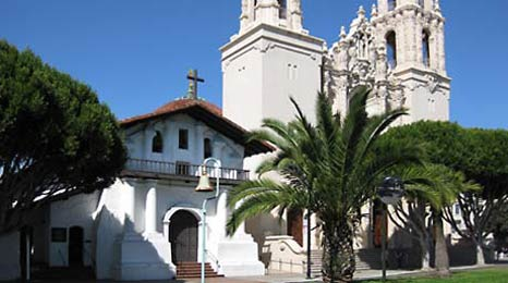 Mission Dolores and the basilica