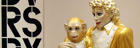 A golden boy and his chimp