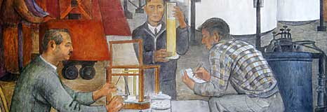 A detail from a Coit Tower mural