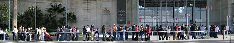 The free day line at the Academy of Sciences