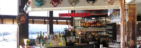 The bar in the Crab House