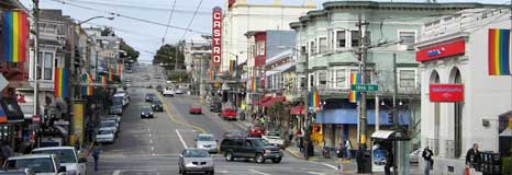 Looking down Castro Stree towards Market Street