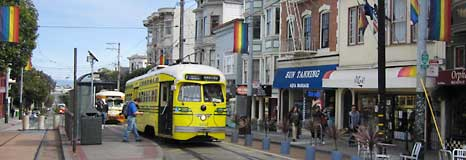 The Trolly Stop at Castro and Market Streets