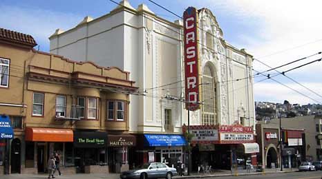 The Castro Theater on Castro Street, which runs through the Castro District